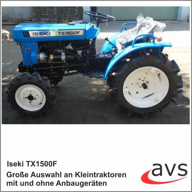 avs center shop kleintraktor iseki tx1500f traktor. Black Bedroom Furniture Sets. Home Design Ideas