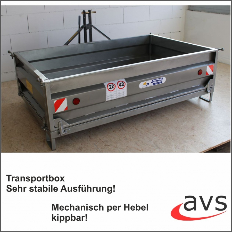 AVS Transportbox Heckcontainer 180cm Traktor Silber